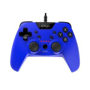F-blue PC Ordinateur Portable contr/ôleur de Jeu USB en Plastique ABS Dual Shock Wired Gamepad Turbo Fonction Auto