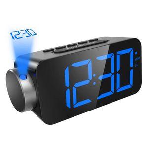 Radio réveil Réveil de projection, radio-réveil FM, écran LED d
