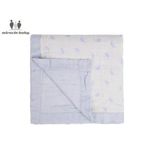 COUVERTURE - PLAID BÉBÉ Couvertures bébé en coton bambou 4 couches - 120*1