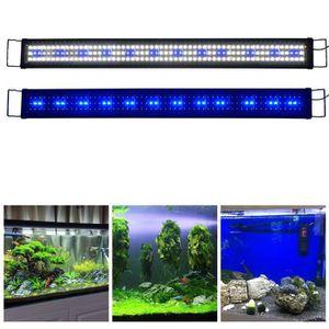 ÉCLAIRAGE 120cm - 150cm Rampe Aquarium LED Bleu Blanc Lumièr