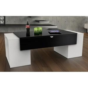 Table basse achat vente table basse pas cher cdiscount for Table ultra basse