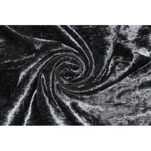 TISSU Tissu Panne de Velours Noire -Au Mètre