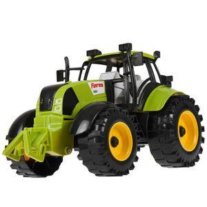 TRACTEUR - CHANTIER Tracteur de Ferme à Friction Avec Ouverture Capot