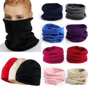 BONNET - CAGOULE bonnet noir 3 en 1 echarpe tour de cou polaire hom
