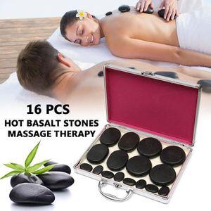 APPAREIL MASSAGE MANUEL Kit 16Pcs Appareil de massage pierres chauffage ba