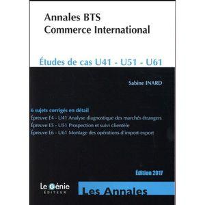 MANUEL UNIVERISTAIRE Livre - annales BTS commerce international ; étude