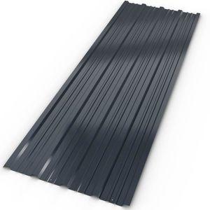 ACCESSOIRE TOITURE 12 tôles profilées/ondulées 129cm x 45cm = 7m² mur