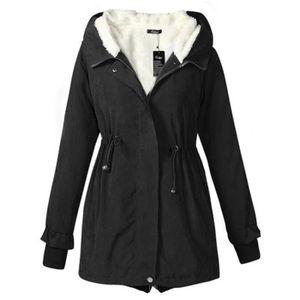 MANTEAU - CABAN Manteau nouvelle femme d'hiver épaisse et de longu