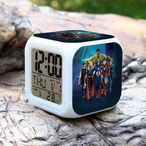 HORLOGE - PENDULE L'Avenger la couleur d'alarme de Marvel changer Ho