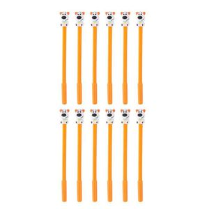 MARQUEUR 12 Pcs Stylo mignon de forme de chiot Crayons Gel