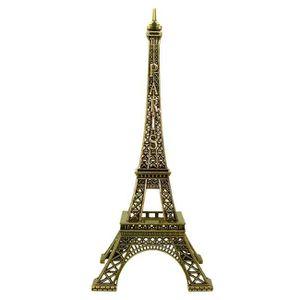 Sourcingmap/® Appartement Statue en m/étal Tour Eiffel Miniature Mod/èle Ornement Souvenirs 2 en 1