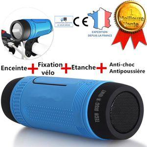 ENCEINTE NOMADE TD® Enceinte bluetooth LED lampe portable multifon