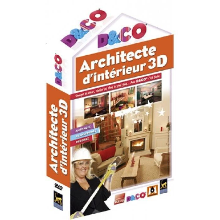 D co architecte d 39 interieur 3d pc dvd rom prix pas for Architecte d interieur prix