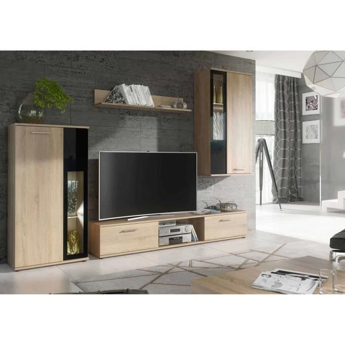 Ensemble meuble tv et de salon design - FRÊNE