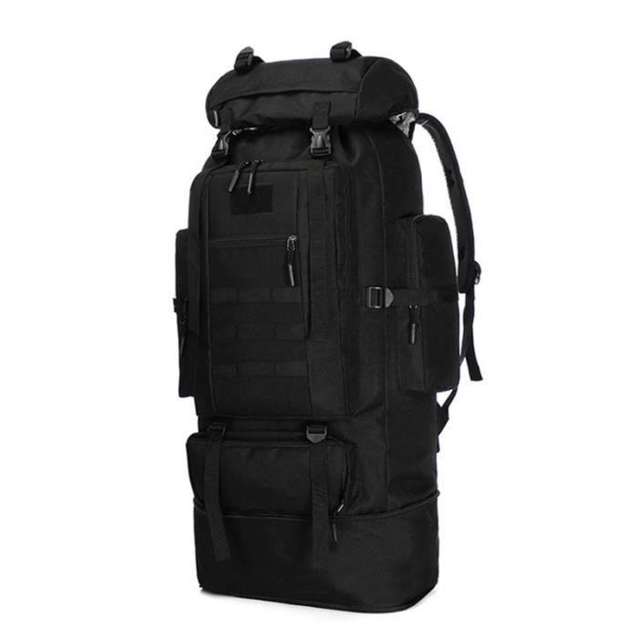 Black -Sac à dos militaire tactique 100l pour hommes, accessoire de plein air, randonnée, Camping, escalade, Trekking, Sports de mon