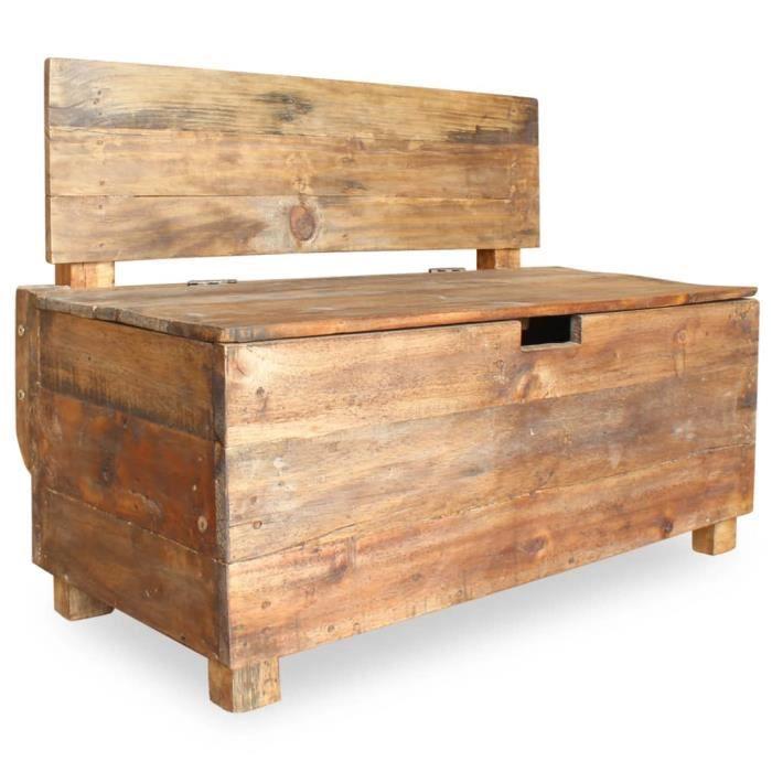 🎉9629 Banc banquette design contemporain grand confort -Meuble Bas Banc de rangement Banc Coffre de Rangement - Bois de récupératio