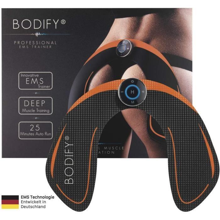 Bodify® Appareil de Musculation EMS pour une Stimulation Ciblée des Muscles Fessiers - Électrostimulation musculaire des fesses et h