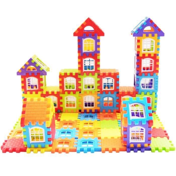 Puzzle Blocs de Construction Noël Cadeau Jouet et Cadeau pour Enfants 1-3-6 ans villa maternelle assemblé jouets 72pcs