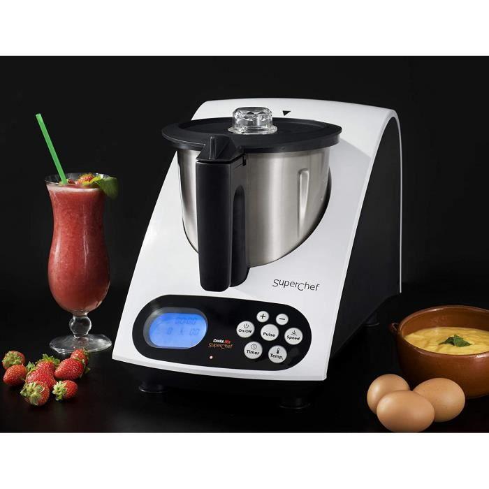 Robots multifonctionsSuperchef cookmix – Robot de cuisine Cook & Mix va 1500 avec 11 fonctions55