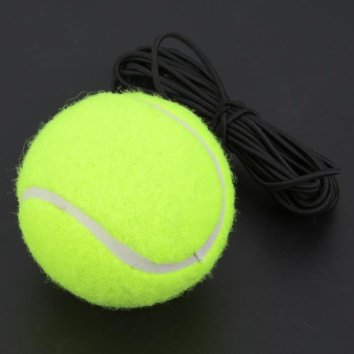 Balle d'entraînement au tennis Balle de tennis Balle d'entraînement pour débutant avec corde en caoutchouc élastique 4M pour une