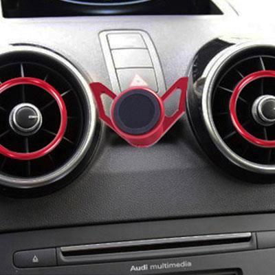 Supports voiture,Support magnétique universel universel pour téléphone Audi A1, Clip par gravité, Support de - Type Magnetic Red