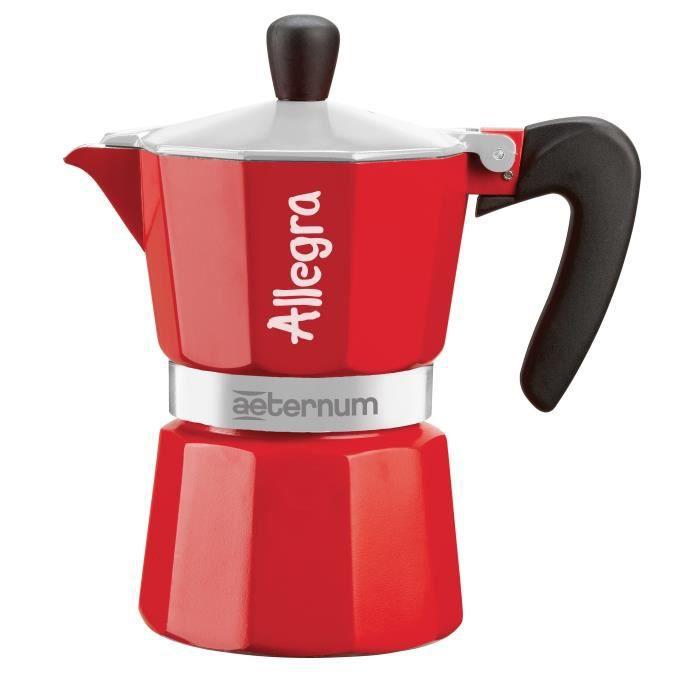 BIALETTI Cafetière ALLEGRA en métal rouge capacité 3 tasses