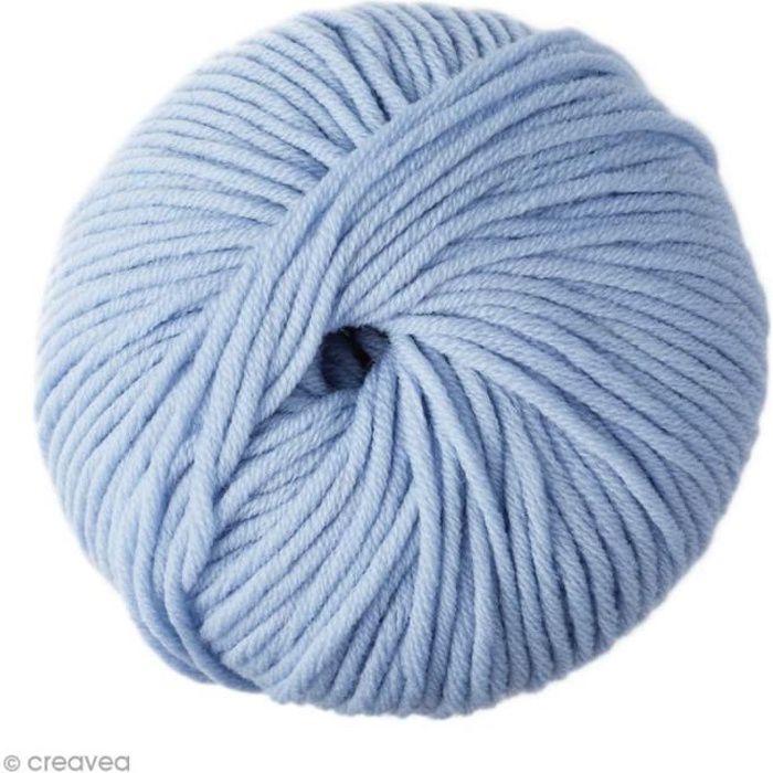 Laine DMC - Woolly 5 Merinos - 50 g Laine DMC Woolly Merinos 5 de DMC :Coloris: Bleu clair (71)Matière : 100% laine merinos Poids :