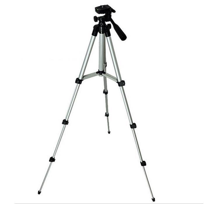Acegreen pliable caméra support de trépied support vis 360 degrés fluide tête trépied stabilisateur aluminium avec support pour télé