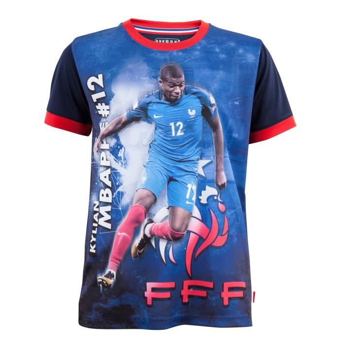 Maillot FFF - Kylian MBAPPE - Collection officielle Equipe de France de Football