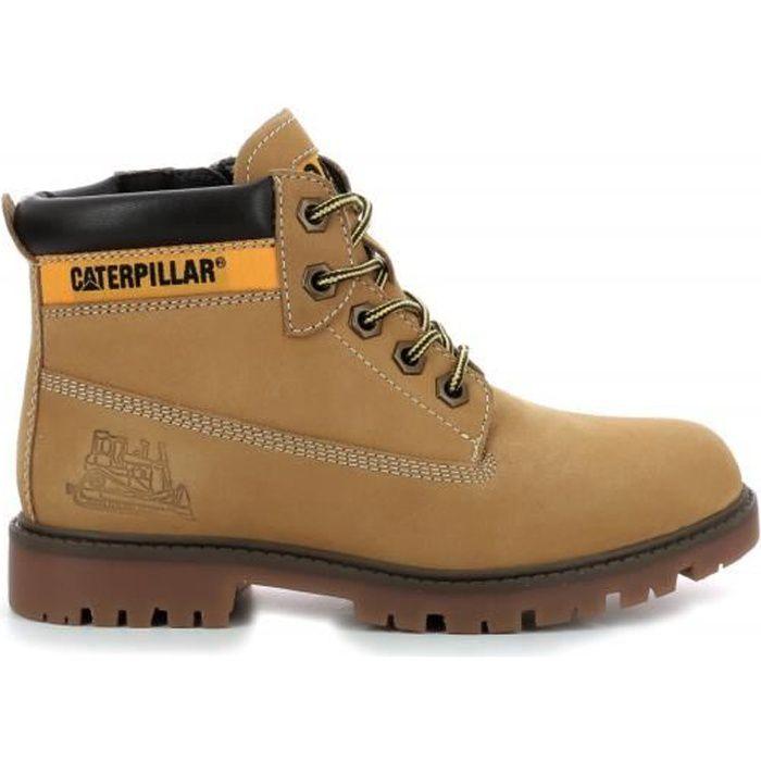 Caterpillar Boots Cuir Garçon Camel