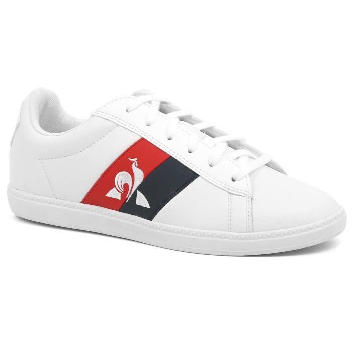 Chaussures de lifestyle enfant Le Coq Sportif Courtclassic gs flag - blanc - 39