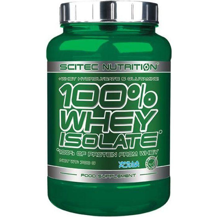 100% Whey Isolate 700 gr VANILLE Scitec Proteine