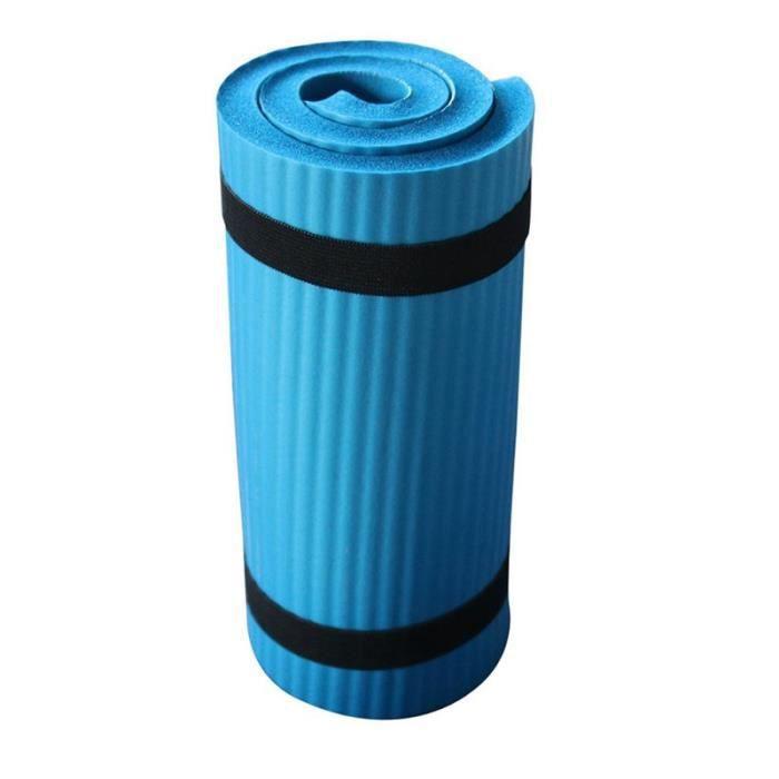 Tapis Anti-DéRapant Bleu NBR Yoga Tapis de Sport Tapis de Gymnastique Souple Tapis de Pilates Coussinets Pliables pour Exercices de