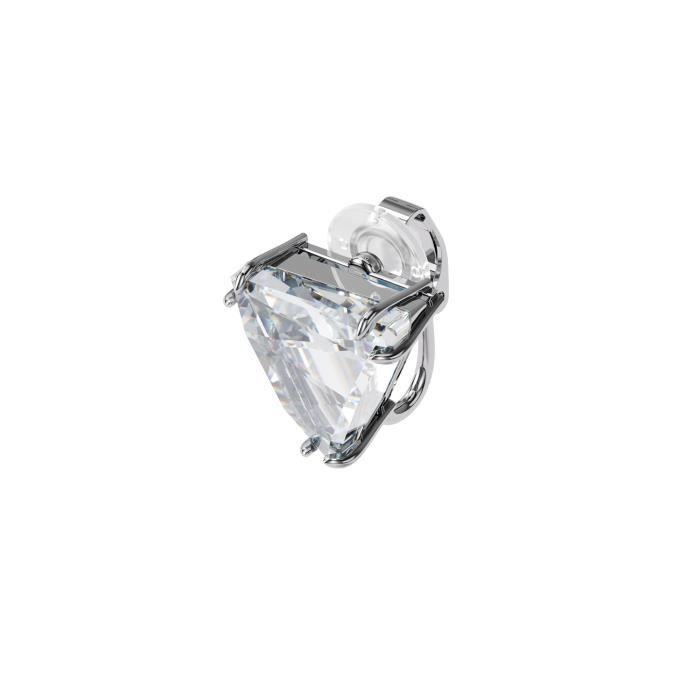 Boucles d'Oreilles femme - SWAROVSKI - Boucle d'oreille à clipper Mesmera Swarovski taille delta - Couleur de la matière:Blanc