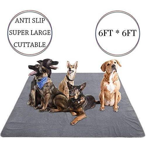 Yangbaga182*182CM Tapis Educateur pour chien et chat Ultra Absorbant et Antiderapant-Alèse Lavable de Grande Taille