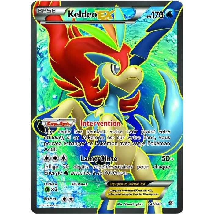 Carte pokemon keldeo ex full art 170 pv 142 achat vente carte a collectionner cdiscount - Tout les carte pokemon ex ...