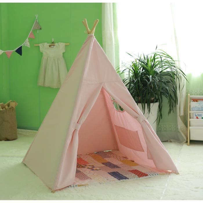 Paris Prix Atmosphera for Kids Toile pour Lit Cabane Enfant Hut 116x126cm Rose