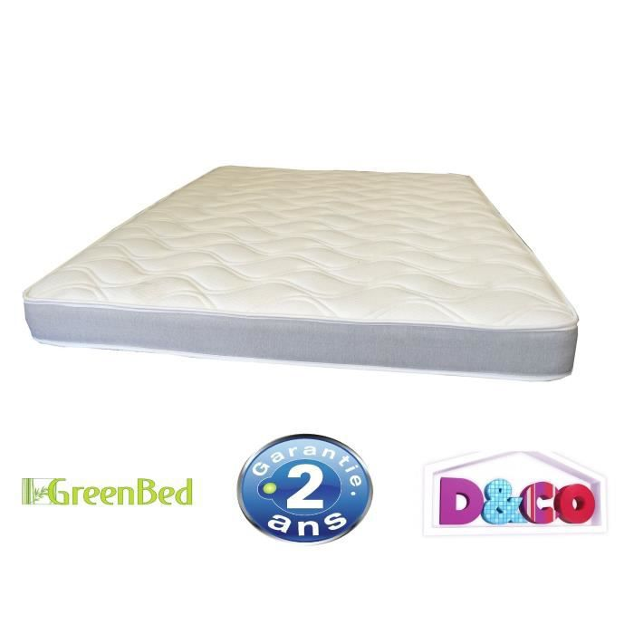 matelas 140x190cm mousse 30kg m3 14cm greenbed achat vente matelas cdiscount. Black Bedroom Furniture Sets. Home Design Ideas