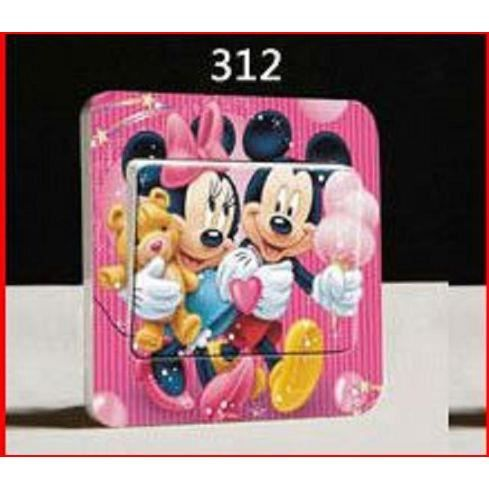 petit sticker interrupteur prise chambre disney minnie mickey achat vente stickers cdiscount. Black Bedroom Furniture Sets. Home Design Ideas