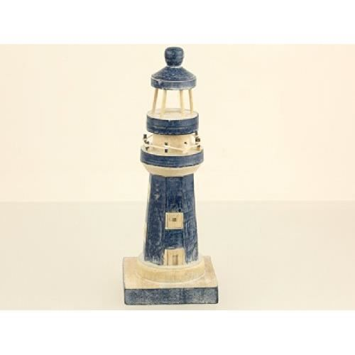 Phare en bois decoration marine rustique 28cm achat for Decoration marine bois