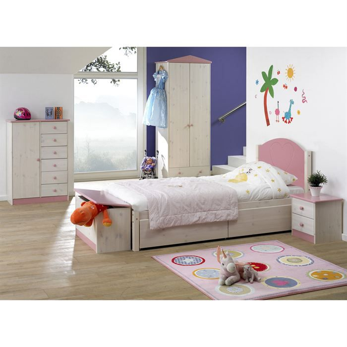 lit enfant classique wendy avec 2 tiroir achat vente. Black Bedroom Furniture Sets. Home Design Ideas