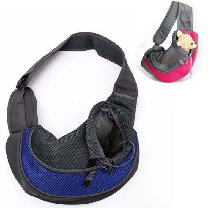 (#110) Dog And Cat Sling Carrier Hands Free Reversible Pet Papoose Bag, Size?large(blue)