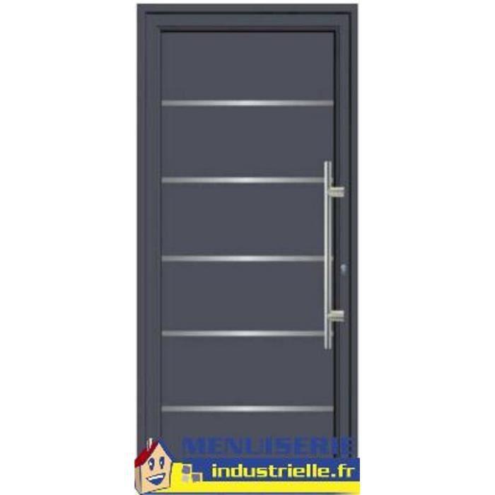 Porte D Entrée Aluminium 215x90 Sens D Ouverture Poussant