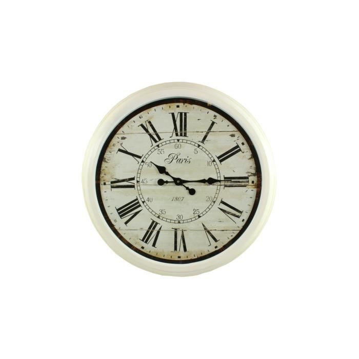 Decoration Grosse Horloge Murale Fer