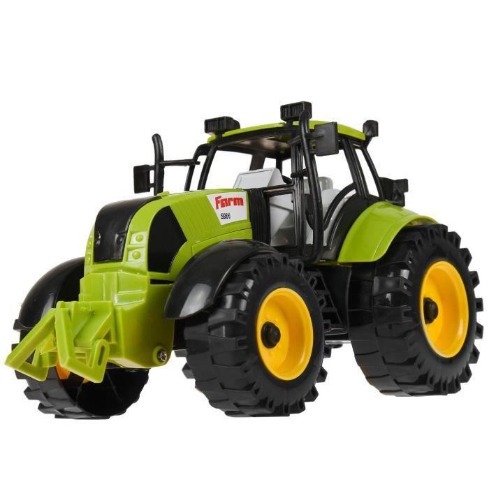 Lit enfant junior tracteur 70 X 140 cm avec coffre à jouets de 3 à 8 ans JCB