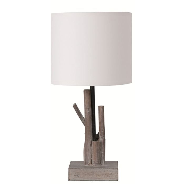 lampe en bois flotte paola achat vente lampe en bois flotte paola bois coton cdiscount. Black Bedroom Furniture Sets. Home Design Ideas