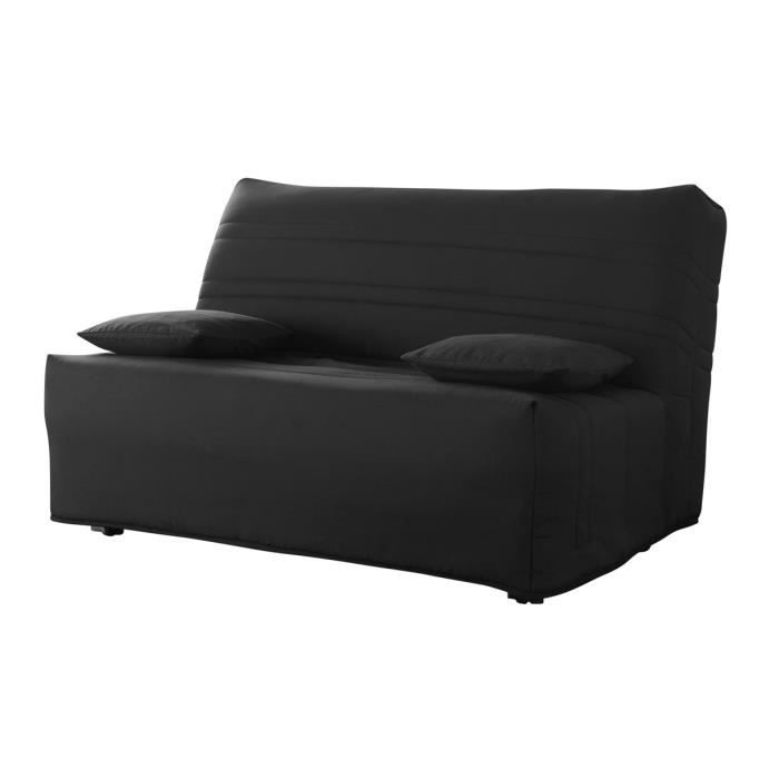 banquette bz noir 2 places louxor achat vente bz cdiscount. Black Bedroom Furniture Sets. Home Design Ideas
