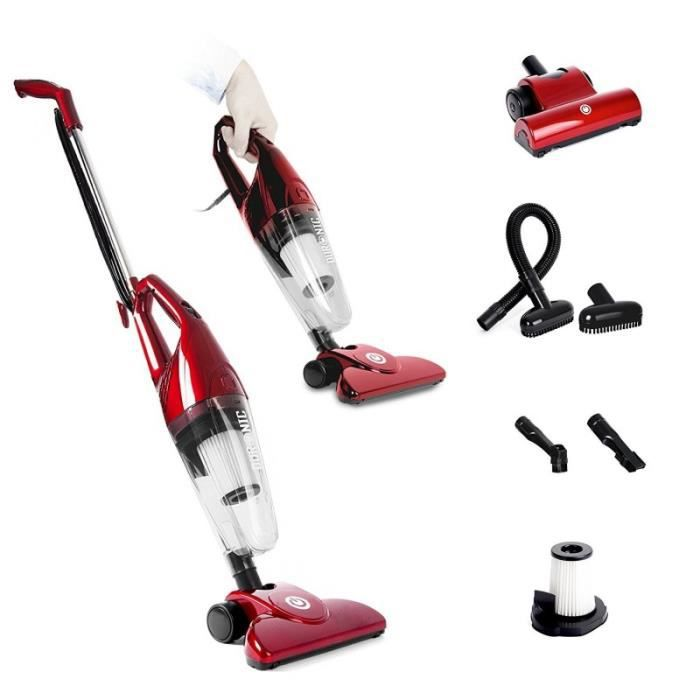 duronic vc7 rd aspirateur balai et main sans sac. Black Bedroom Furniture Sets. Home Design Ideas