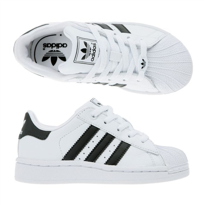 adidas superstar 2 enfant gar on blanc noir achat vente basket cdiscount. Black Bedroom Furniture Sets. Home Design Ideas