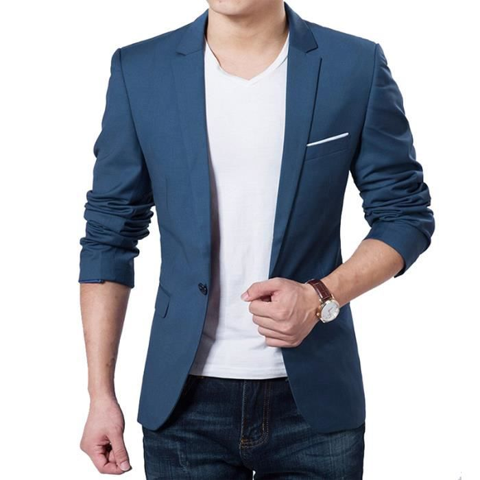 r tro d contract costume veste pour homme bleu bleu achat vente blouson soldes cdiscount. Black Bedroom Furniture Sets. Home Design Ideas